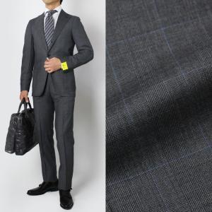 ジアーボ / G.abo / ピュアウール グレンチェック柄 3B段返り シングル スーツ / セール / 返品・交換不可|luccicare