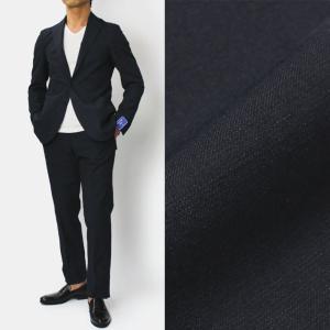 FLANNEL BAY ( フランネル ベイ ) / コットンリネン 3B段返り シングル スーツ【ネイビー】【送料無料】|luccicare