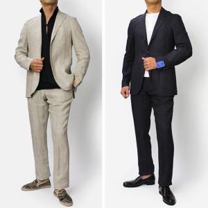 フランネル ベイ / FLANNEL BAY / リネン 3B段返り シングル スーツ / セール / 返品・交換不可|luccicare