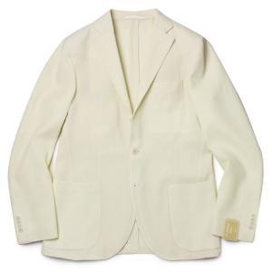 FLANNEL BAY ( フランネル ベイ ) / ウール バスケット織 3B2パッチ シングル ジャケット【オフホワイト】|luccicare