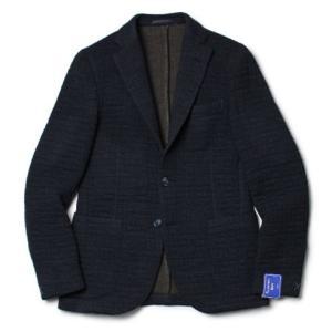 FLANNEL BAY ( フランネル ベイ ) / ウールコットン キルト ジャージー 3B ジャケット【ネイビー】【送料無料】|luccicare