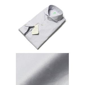 Finamore ( フィナモレ ) / SERGIO ( セルジオ ) / コットン ツイル カッタウェイ シャツ【アイスブルー】【送料無料】|luccicare