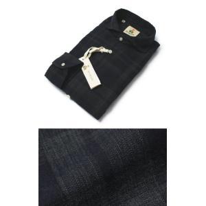 ギローバー / GUY ROVER / コットン ヘリンボーン織り チェック柄 カッタウェイ シャツ / セール / 返品・交換不可|luccicare