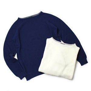 ZANONE ( ザノーネ ) / コットン ボートネック ラグラン セーター【3372.オフホワイト/3341.ブルー】【送料無料】|luccicare