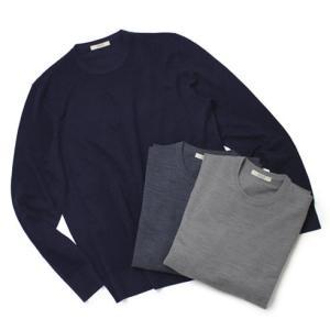 ワンズ / ONES / Loropiana / ICE WISH SUPER160's / ハイゲージ クルーネック セーター / セール / 返品・交換不可|luccicare