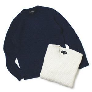 スリードッツ / three dots / ウール バスケット編み クルーネック セーター / セール / 返品・交換不可|luccicare