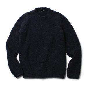 roberto collina ( ロベルトコリーナ ) / ウール モヘヤ ブークレ クルーネック セーター【ブラック】【送料無料】|luccicare