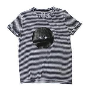 SOHO ( ソーホー ) / コットン ボーダー プリント Tシャツ【ネイビー】【送料無料】|luccicare