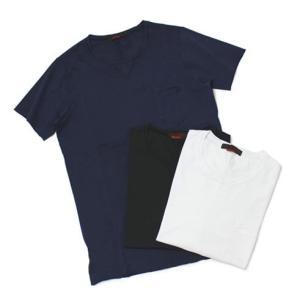 JEORDIE'S ( ジョルディーズ ) / コットン クルーネック ポケット Tシャツ【ホワイト/ネイビー/ブラック】【送料無料】|luccicare