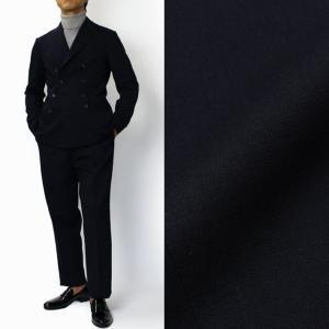 THE GIGI (ザ ジジ) / ZIGGY / ダブルフェイス ストレッチウール 8釦 ダブル スーツ【ネイビー】【送料無料】|luccicare