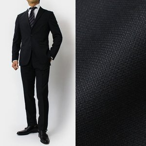 BOGLIOLI ( ボリオリ ) / DOVER / ウール 3釦段返り2パッチ ノータック スーツ【ブラック】【送料無料】|luccicare