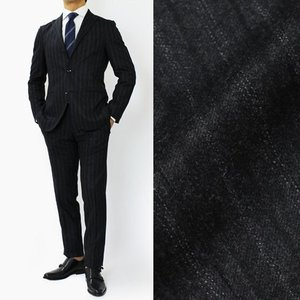 ボリオリ / BOGLIOLI / DOVER / ストライプ柄 ウール 3釦段返り スーツ / セール / 返品・交換不可|luccicare