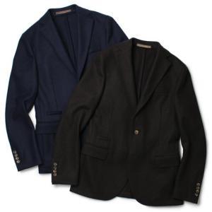 eleventy ( イレブンティ ) / ウール フランネルジャージー 2B シングル ジャケット【ブラウン/ネイビー】【送料無料】|luccicare