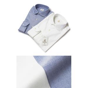 モスカ / MOSCA / コットン オックスフォード 変形ラウンドカラー シャツ / セール / 返品・交換不可|luccicare