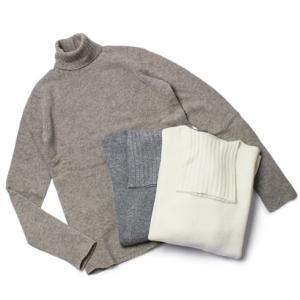 マリア / ma'ry'ya / ウール カシミヤ タートルネック セーター|luccicare
