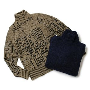 クルチアーニ / Cruciani / ウール ジャカード ニット ハイネック セーター|luccicare