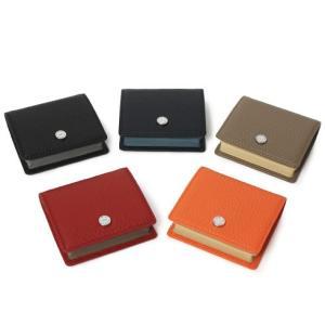 ペッレ モルビダ / PELLE MORBIDA / シュリンクレザー ボックス型 小銭入れ / 返品・交換可能|luccicare