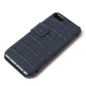 THE CASE FACTORY ( ザ ケース ファクトリー ) / CROCODILE / iPhone 7 / 8 対応 / クロコダイル型押し レザー カードケース【ネイビー】【送料無料】|luccicare