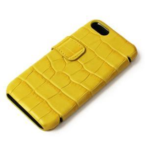 THE CASE FACTORY ( ザ ケース ファクトリー ) / CROCODILE / iPhone 7 / 8 対応 / クロコダイル型押し レザー カードケース【イエロー】【送料無料】|luccicare