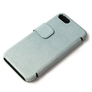 THE CASE FACTORY ( ザ ケース ファクトリー ) / LIZARD / iPhone 7 / 8 対応 / リザード型押し レザー カードケース【サックス】【送料無料】|luccicare