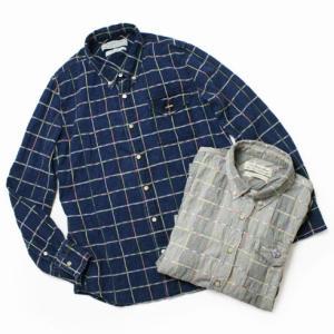 レミレリーフ / REMI RELIEF / ネイティブ チェック ボタンダウン レギュラーシャツ / セール / 返品・交換不可|luccicare
