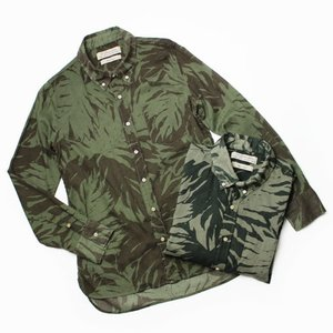 レミレリーフ / REMI RELIEF / リーフ柄 ライトオンス レギュラーシャツ / セール / 返品・交換不可|luccicare