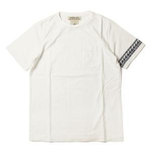 レミレリーフ / REMI RELIEF / インディゴ ジャカード 切替え ボーダー Tシャツ / 返品・交換可能|luccicare