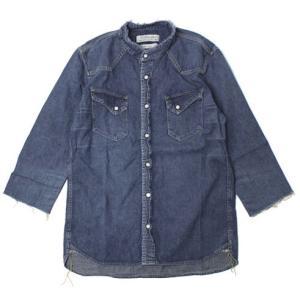 REMI RELIEF ( レミレリーフ ) / ビッグ デニム ウエスタン 7分袖 シャツ【ブルー】【送料無料】|luccicare