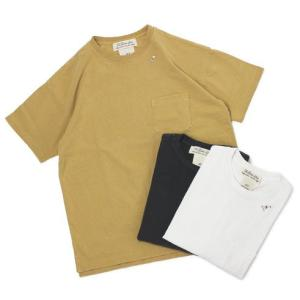 レミレリーフ / REMI RELIEF / スケーター刺繍 16/- 天竺 クルーネック ポケット Tシャツ / 返品・交換可能|luccicare