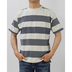 レミレリーフ / REMI RELIEF / インディゴ 太ボーダー 半袖 Tシャツ / 返品・交換可能|luccicare|02