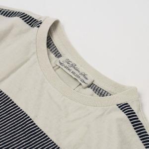 レミレリーフ / REMI RELIEF / インディゴ 太ボーダー 半袖 Tシャツ / 返品・交換可能|luccicare|03