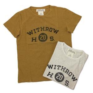 レミレリーフ / REMI RELIEF / WITHROW ロゴ リサイクル天竺 スペシャル加工 Tシャツ / 返品・交換可能|luccicare