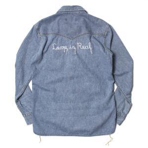 レミレリーフ / REMI RELIEF / デニム ウエスタン シャツ / 刺繍 Love is Real / 返品・交換可能|luccicare