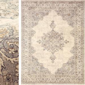 高級 絨毯 輸入品 カーペット ラグ/ベルギー/ウィルトン織/アウラ/200×250/アイボリー lucentmart-bed