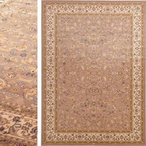 高級 絨毯 輸入品 カーペット ラグ/ウール100% カーペット/ベルギー/ウィルトン織/ダイヤモンド/200×250/トープ lucentmart-bed