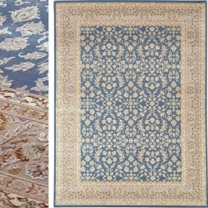 高級 絨毯 輸入品 カーペット ラグ/ベルギー/ウィルトン織/エドヴァン/140×200/ブルー lucentmart-bed