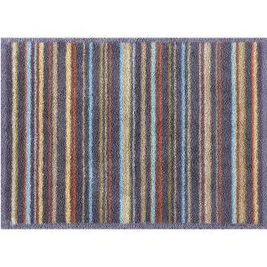 玄関マット ドアマット/洗える/タートルマット/チャコールストライプ/室内外兼用/60×85cm|lucentmart-interior