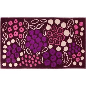 玄関 マット/モダンデザイン/Kobe Muoto コレクション/紫/45×75cm|lucentmart-interior
