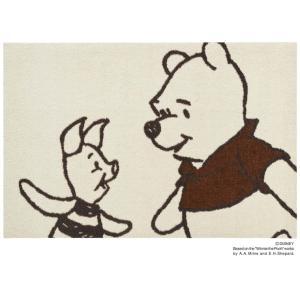 玄関マット ドアマット/ディズニー/ウォッシュ&ドライ/洗える/プーさん&ピグレット/60×90cm/日本製|lucentmart-interior