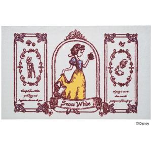 玄関マット ドアマット 中型/ディズニー/ウォッシュ&ドライ/洗える/白雪姫/75×120cm/日本製|lucentmart-interior