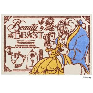玄関マット ドアマット/ディズニー/ウォッシュ&ドライ/洗える/美女と野獣/60×90cm/日本製|lucentmart-interior