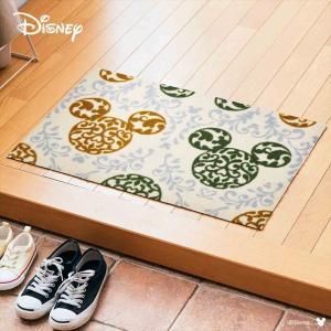 玄関マット ドアマット/ディズニー/ウォッシュ&ドライ/洗える/ミッキー ロココ調 グリーン/50×75cm/日本製|lucentmart-interior|03