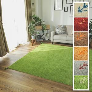 ギャベ ラグ 絨毯/190x190cm ウール100%/手織りギャッベ/床暖/アヤカ/7色|lucentmart-interior