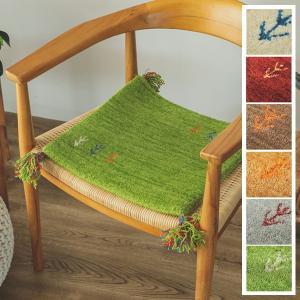 ギャベ マット/インテリアマット/40x40cm ウール100%/手織りギャッベ/床暖/アヤカ/7色|lucentmart-interior