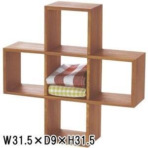 天然木 ミニラック 小物入れ/W 31.5 X D 9 X H 31.5 lucentmart-interior