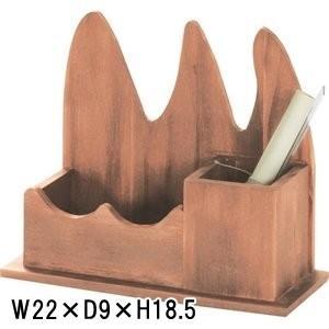 天然木 ペンスタンド 鉛筆立て ペン立て 小物入れ/W 22 X D 9 X H 18.5cm|lucentmart-interior