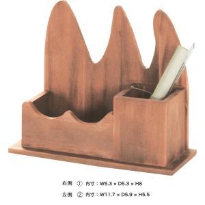 天然木 ペンスタンド 鉛筆立て ペン立て 小物入れ/W 22 X D 9 X H 18.5cm|lucentmart-interior|02