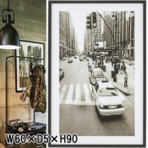 アートパネル/街風景 タクシー/90×60|lucentmart-interior