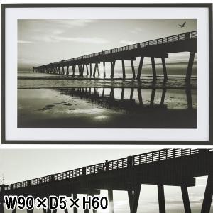 アートパネル/街風景 木橋/90×60|lucentmart-interior