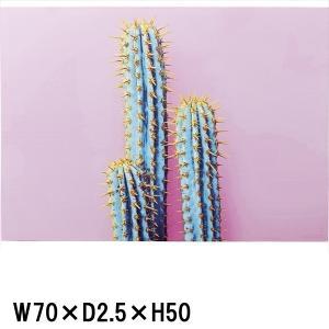 アート 壁掛け 絵画/アートパネル/W70 H50/デザイン サボテン|lucentmart-interior